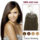 "18"" Ash Brown(#8) 100S Micro Loop Remy Human Hair Extensions"