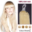 "16"" White Blonde(#60) 100S Micro Loop Human Hair Extensions"