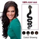 "20"" Dark Brown(#2) 100S Wavy Micro Loop Remy Human Hair Extensions"