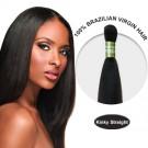 10 Inches Kinky Straight Brazilian Virgin Hair Wefts