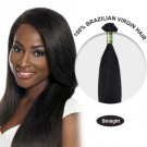 20 Inches Straight Brazilian Virgin Hair Wefts