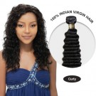 16 Inches Curly Indian Virgin Hair Wefts