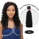 20 Inches Curly Peruvian Virgin Hair Wefts