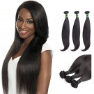 18 Inches*3 Straight Natural Black Virgin Brazilian Hair
