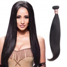16 Inches Straight Natural Black Virgin Peruvian Hair