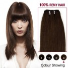 """10"""" Medium Brown(#4) Straight Indian Remy Hair Wefts"""