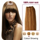 """22"""" Golden Brown(#12) Light Yaki Indian Remy Hair Wefts"""