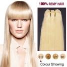 "12"" Bleach Blonde(#613) Light Yaki Indian Remy Hair Wefts"