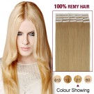 """24"""" Strawberry Blonde(#27) 20pcs Tape In Human Hair Extensions"""