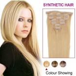 """20"""" Ash Blonde(#24) 7pcs Clip In Synthetic Hair Extensions"""