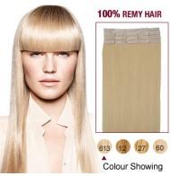 "16"" Bleach Blonde(#613) 20pcs Tape In Human Hair Extensions"