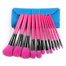 12pcs Rosy Makeup Brush Set