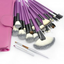 24pcs Senior Purple Makeup Brush Set