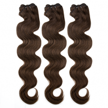 10 Inches Medium Brown(#4) Body Wave Indian Remy Hair Wefts Bundle