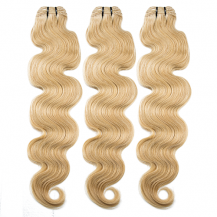 10 Inches Ash Blonde(#24) Body Wave Indian Remy Hair Wefts Bundle