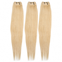 18 Inches Ash Blonde(#24) Straight Indian Remy Hair Wefts Bundle