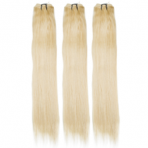 18 Inches Bleach Blonde(#613) Straight Indian Remy Hair Wefts Bundle