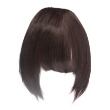 Neat Bang With Hair On The Temples Deep Chestnut Brown 1 Piece