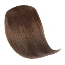 Lovely Double Buckle-style Oblique Bang Deep Chestnut Brown 1 Piece