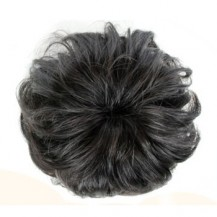 Bun Hair Piece Extension Synthetic Hairpiece Updo Black 1