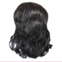 Wavy Hepburn Fluffy Ball Head Bud Head Bun Ponytail Black 1 Piece