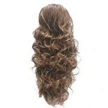 French Romantic Curls Sexy Bud Head Ponytail Flax Yellow 1 Piece