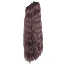 Claw clip Long Corn Curls Ponytail Deep Chestnut Brown 1 Piece