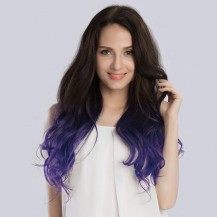 "20"" Ombre(#2/Violet) 7pcs Remy Clip In Hair Extensions-KINGHAIR"