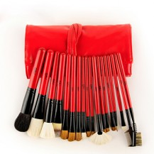 18pcs Red Makeup Brush Set