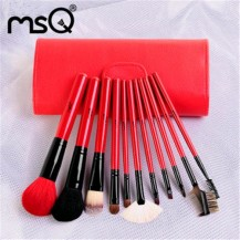 11pcs Red Makeup Brush Set