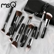 10pcs Black  Makeup Brush Set