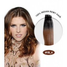 "22"" #1B/4 Ombre Straight 100% Remy Human Hair"