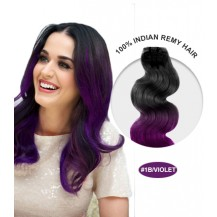 """22"""" #1B/Violet Ombre Body Wave 100% Remy Human Hair"""