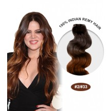 "14"" #2/33 Ombre Body Wave 100% Remy Human Hair"
