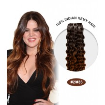 "18"" #2/33 Ombre Curly 100% Remy Human Hair"