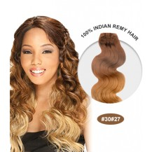 "14"" #30/27 Ombre Body Wave 100% Remy Human Hair"