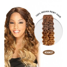 "18"" #30/27 Ombre Curly 100% Remy Human Hair"