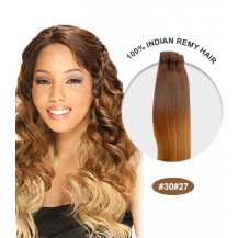 "18"" #30/27 Ombre Straight 100% Remy Human Hair"
