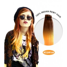 "18"" #33/144 Ombre Straight 100% Remy Human Hair"