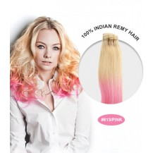 "20"" #613/Pink Ombre Straight 100% Remy Human Hair"