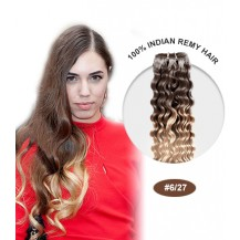 "24"" #6/27 Ombre Curly 100% Remy Human Hair"