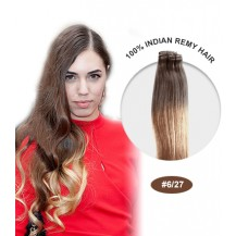 "16"" #6/27 Ombre Straight 100% Remy Human Hair"