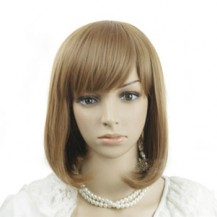 Oblique Fringe BOBO Wig Deep Flax Yellow 1