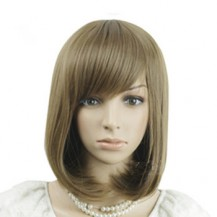 Oblique Fringe BOBO Wig Light Flax Yellow 1