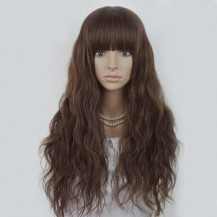 Long Corn Hot Fluffy Waves Wig Light Brown 1