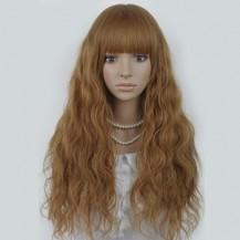 Long Corn Hot Fluffy Waves Wig Flax Yellow 1