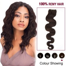 "10"" Medium Brown(#4) Body Wave Indian Remy Hair Wefts"