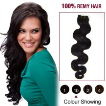 "12"" Natural Black(#1b) Body Wave Indian Remy Hair Wefts"