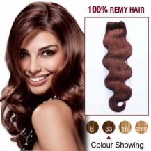 "20"" Dark Auburn(#33) Body Wave Indian Remy Hair Wefts"