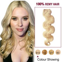 "14"" Bleach Blonde(#613) Body Wave Indian Remy Hair Wefts"